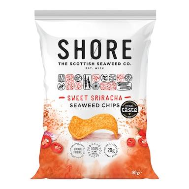 Shore Seaweed Sweet Sriracha Chilli Seaweed Chips 80g