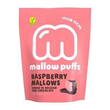 Mallow Puffs Raspberry Mallows Dark Choc 100g