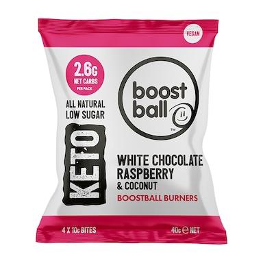 Boostball Keto White Chocolate Raspberry & Coconut 40g