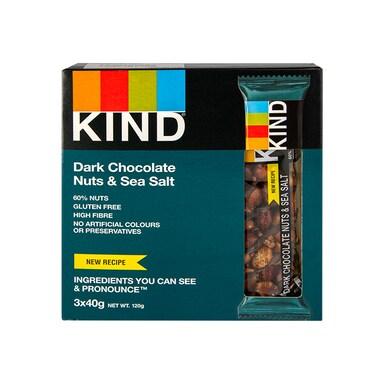 KIND Dark Chocolate Nuts & Sea Salt 120g