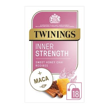 Twinings Adaptogens Inner Strength with Honey, Rooibos & Maca Root 18 Tea Bags