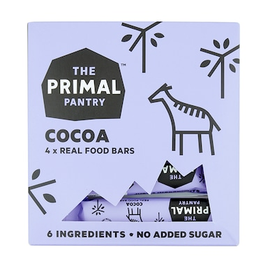 The Primal Pantry Cocoa Brownie Bar Multipack 4 x 30g
