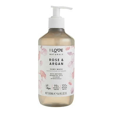 I Love Naturals Rose & Argan Hand Wash 500ml