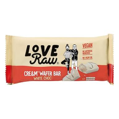 Love Raw 2 Vegan White Chocolate Cre&m Wafer Bars 44g