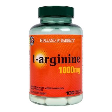 Holland & Barrett L-Arginine Coated 100 Caplets 1000mg