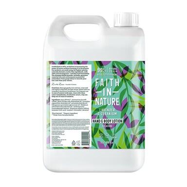 Faith in Nature Lavender & Geranium Hand & Body Lotion 5L