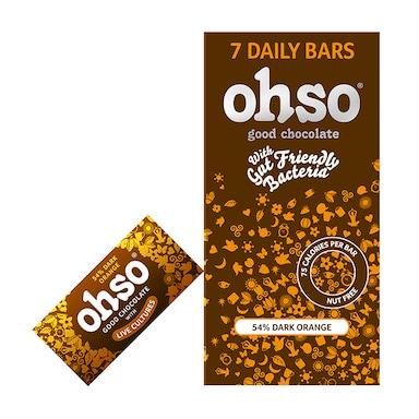 Ohso 54% Dark Chocolate Orange Bar 7 x 13.5g