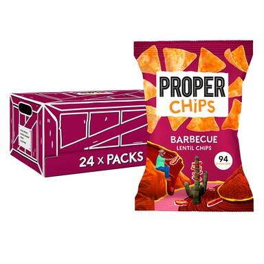 Properchips BBQ Lentil Chips Full Box 24 x 20g