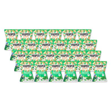 Properchips Sour Cream & Chive Lentil Chips Full Box 24 x 20g