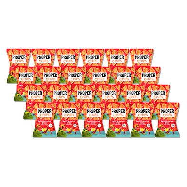 Properchips Sweet Sriracha Lentil Chips Full Box 24 x 20g