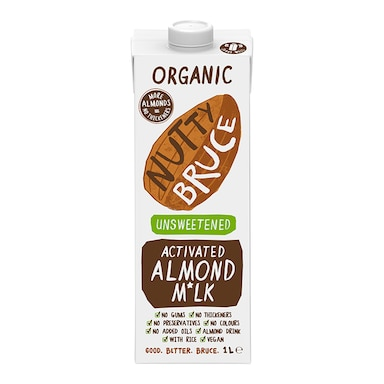 Nutty Bruce Activated Unsweetened Almond M*lk 1L