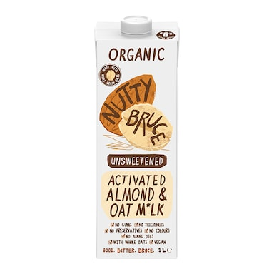 Nutty Bruce Activated Unsweetened Almond & Oat M*lk 1L