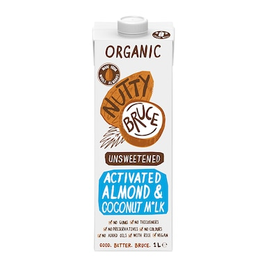Nutty Bruce Activated Unsweetened Almond & Coconut M*lk 1L