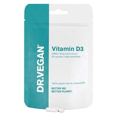 DR.VEGAN Vitamin D3 2500iu 30 Capsules