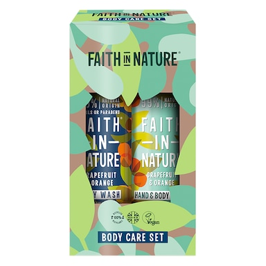 Faith in Nature Grapefruit & Orange Hand & Body Gift Set 2 x 400ml
