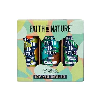 Faith in Nature Body Wash Travel Gift Set 3 x 100ml