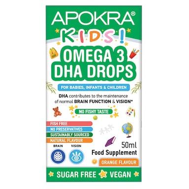 Memoraid Kids Vegan Omega 3 DHA Drops No Fishy Taste 50ml
