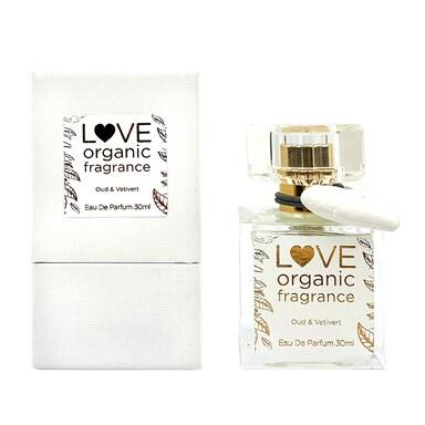 LOVE organic fragrance Oud & Vetiver Eau De Parfum 30ml