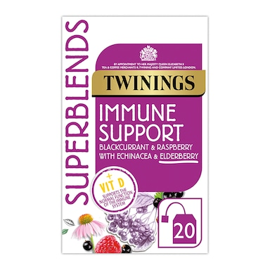 Twinings Superblends Immune Support with Blackcurrant, Raspberry & Vitamin D 20 Tea Bags