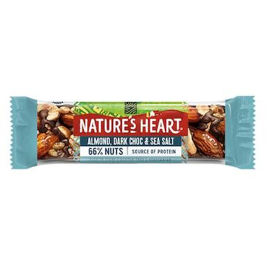 Nature's Heart Sea Salt, Dark Choc & Almond Nut Bar 35g