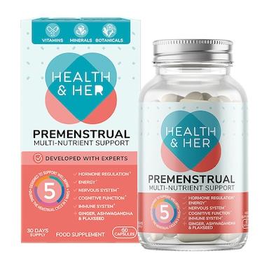 Health & Her Premenstrual Multi-Nutrient Supplement 60 Capsules