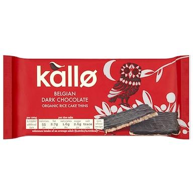 Kallo Organic Dark Chocolate Rice Cakes Thins 90g