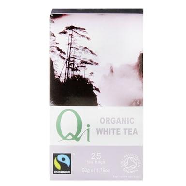 Qi Teas Organic Fairtrade White Tea 25 Tea Bags