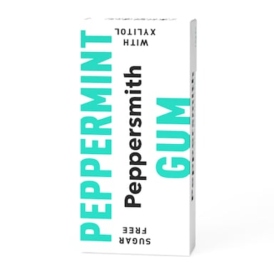 Peppersmith 100% Xylitol Fine English Peppermint Chewing Gum 15g
