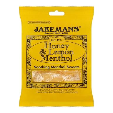 Jakemans Honey & Lemon Soothing Menthol Sweets 100g Bag