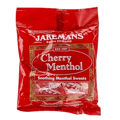 Jakemans Cherry Soothing Menthol Sweets 100g Bag
