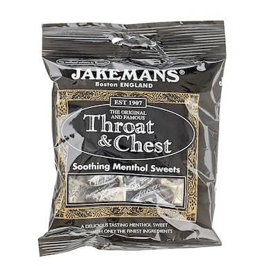 Jakemans Original Throat & Chest Soothing Menthol Sweets 100g Bag