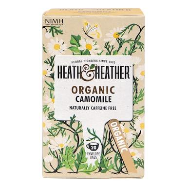 Heath & Heather Organic Camomile 20 Tea Bags