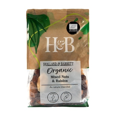 Holland & Barrett Organic Mixed Nuts & Raisins 250g