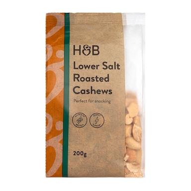 Holland & Barrett Lower Salt Roasted Cashews 200g