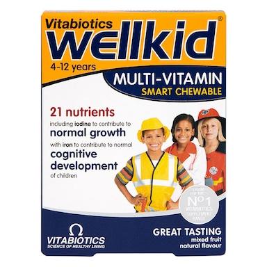 Vitabiotics Wellkid Multi-Vitamin Chewables 30 Tablets