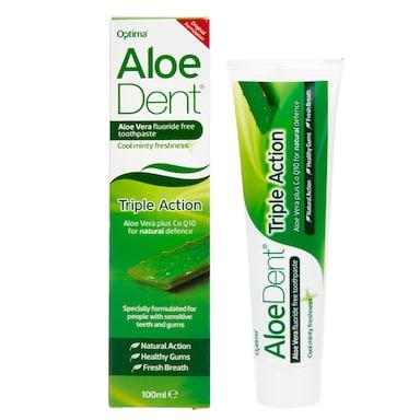 Aloe Dent Triple Action Aloe Vera Toothpaste with Co Q10 100ml
