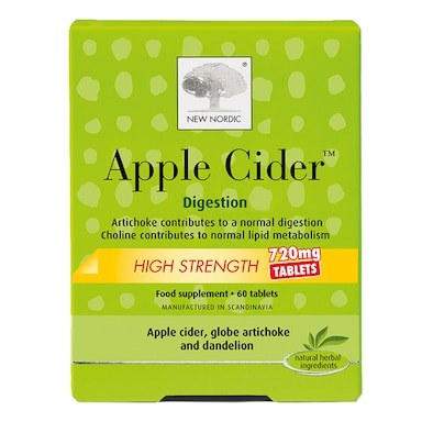 New Nordic High Strength Apple Cider 60 Tablets 720mg