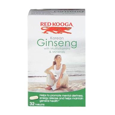 Red Kooga Korean Ginseng with Multivitamins & Minerals 32 Tablets