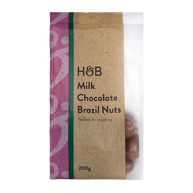 Holland & Barrett Milk Chocolate Brazil Nuts 200g
