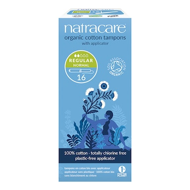 Natracare Organic Applicator Tampons 16 Regular