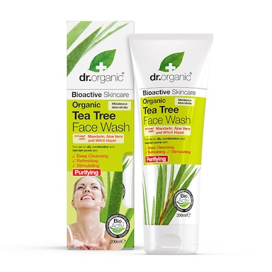Dr Organic Tea Tree Face Wash 200ml