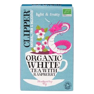 Clipper Organic White Tea With Raspberry Tea Bags