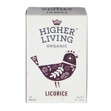 Higher Living Licorice Tea 15 Tea Bags