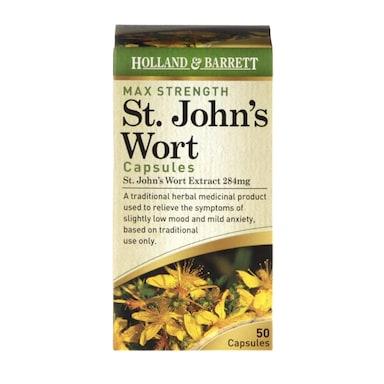 Holland & Barrett Maximum Strength St John's Wort Capsules 50 Capsules 284mg