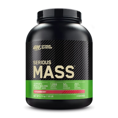 Optimum Nutrition Serious Mass Powder Strawberry 2.72kg