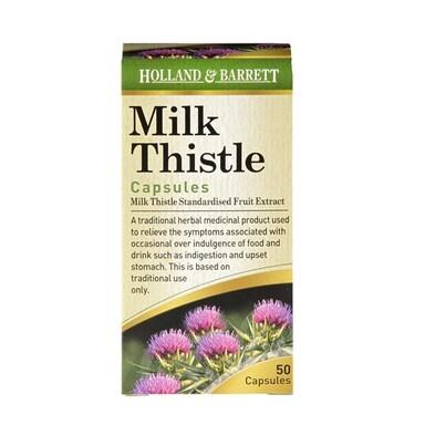 Holland & Barrett Milk Thistle 50 Capsules