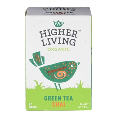 Higher Living Organic Green Tea Chai 20 Tea Bags
