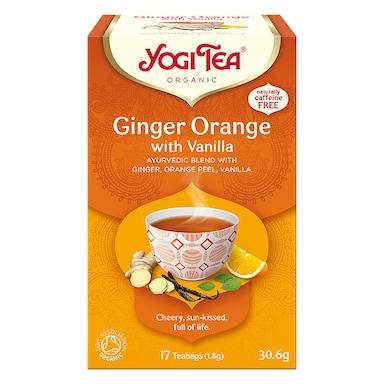 Yogi Tea Organic Ginger Orange Tea with Vanilla 17 Tea Bags