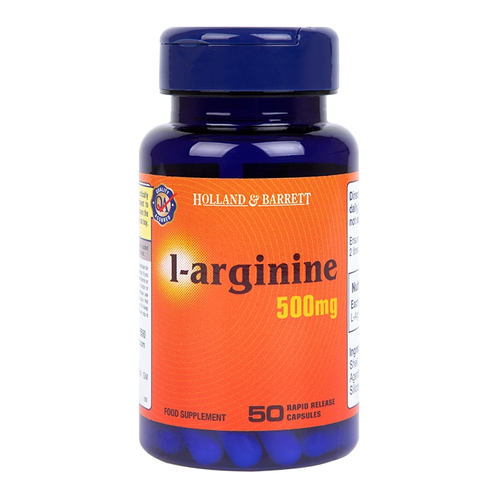 Holland & Barrett L-Arginine 50 Capsules 500mg