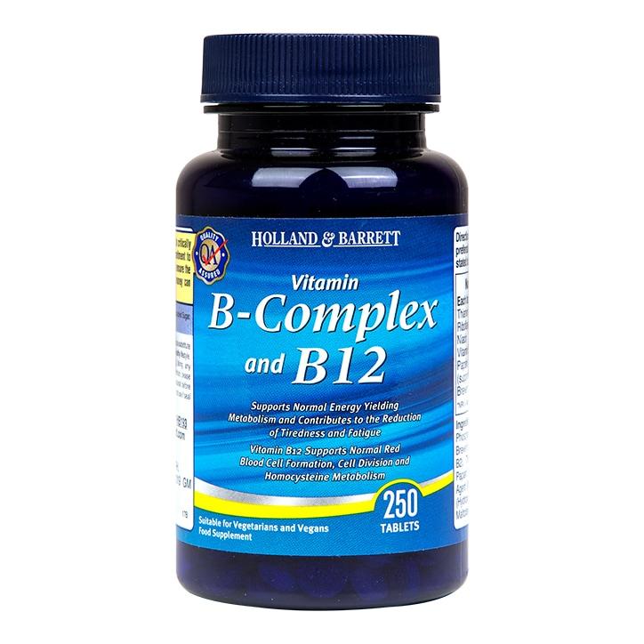 Holland & Barrett B Complex & B12 250 Tablets